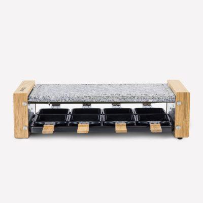 raclette gratar electric 8 persoane piatra granit design lemn