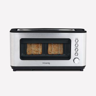toaster paine vedere transparenta sticla 2 felii