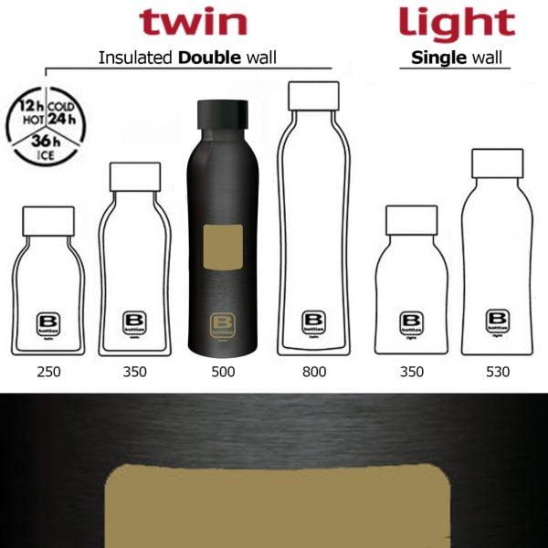 sticla termos b bottles 500 ml casa bugatti square gold
